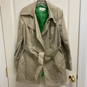 Merona Tan Spring Coat with Belt (Size: S)